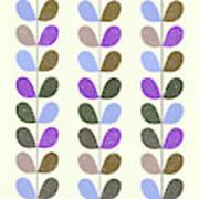 Mid Century Modern Leaf Pattern II Art Print
