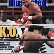 Mike Tyson, 1988 Wbcwbaibf Heavyweight Title Sports Illustrated Cover Art Print