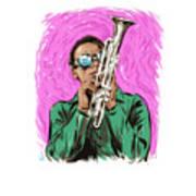 Miles Davis - An Illustration By Paul Cemmick Art Print