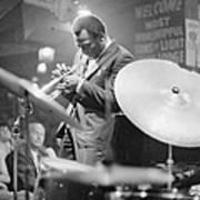 Miles Davis Performing In Nightclub Art Print
