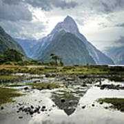Milford Sound, South Island, New Zealand Art Print