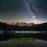 Milky Way In The Alps Art Print