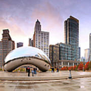 Millennium Park, Chicago, Illinois,usa Art Print