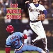 Milwaukee Brewers Robin Yount, 1982 World Series Sports Illustrated Cover Art Print