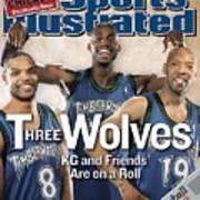 Minnesota Timberwolves Latrell Sprewell, Kevin Garnett, And Sports Illustrated Cover Art Print