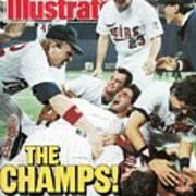 Minnesota Twins Dan Gladden, 1987 World Series Sports Illustrated Cover Art Print