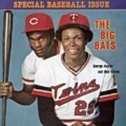 Minnesota Twins Rod Carew And Cincinnati Reds George Sports Illustrated Cover Art Print