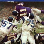 Minnesota Vikings Dave Osborn, 1969 Nfl Conference Sports Illustrated Cover Art Print