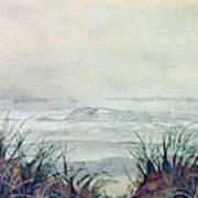 Misty Morning On Lawrencetown Beach Art Print