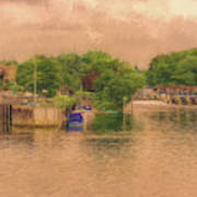 Molesey Lock And Weir Art Print