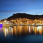 Monaco At Twilight Art Print