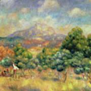 Mont Sainte-victoire, 1889 Art Print
