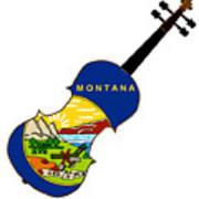 Montana State Fiddle Art Print