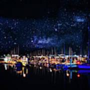 Monterey Bay At Night Art Print