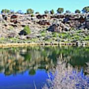 Montezuma's Well Az Water Blue Sky Reflections Stone Wall 3192019 5253. Art Print