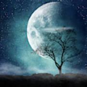 Moon Blues Art Print