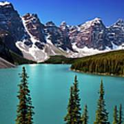Moraine Lake, Banff National Park Art Print