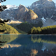 Moraine Lake In Banff National Park Art Print