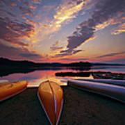 Morning At Lake Of The Two Rivers Art Print