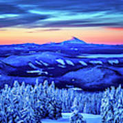 Morning From Timberline Lodge Art Print