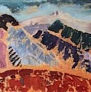 Mosaic Canigou Art Print