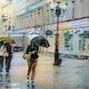 Moscow In The Rain Art Print