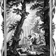 Moses Hiding His Face, 1807. Artist Anon Art Print