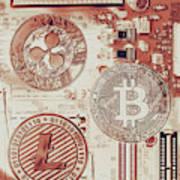 Motherboard Money Art Print