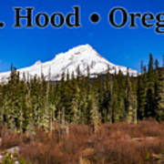 Mount Hood Oregon In Winter 01 Art Print
