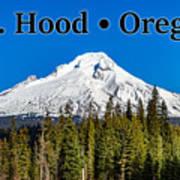 Mount Hood Oregon In Winter 02 Art Print