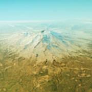 Mount Shasta 3d Render Topographic Map Horizon Digital Art By Frank
