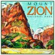 Mount Zion National Park Art Print