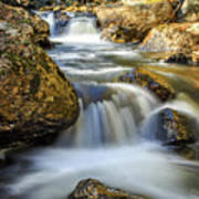 Mountain Stream Waterfall  Art Print