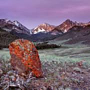 Mountain Textures And Light Art Print