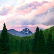 Mountain And Sky Art Print