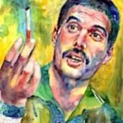 Mr Bad Guy - Freddie Mercury Portrait Art Print