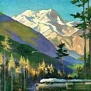 Mt. Rainier National Park Art Print