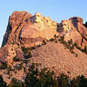 Mt Rushmore Memorial Carvings Art Print