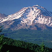 Mt Shasta Across Lake Siskiyou, Mt Art Print