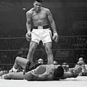 Muhammad Ali Taunting Sonny Liston Art Print