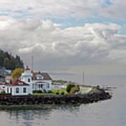 Mukilteo Lighthouse On Puget Sound Art Print