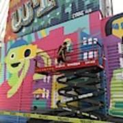 Mural Near The World Trade Center Art Print