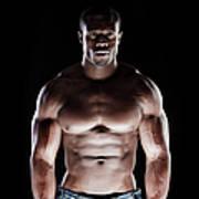 Muscular Man Art Print
