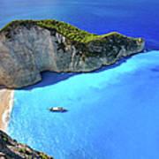 Navagio Beach, Zakynthos Island, Greece Art Print