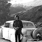 Neil Young And His Classic Car Art Print