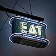 Neon Eat Sign Art Print