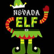 Nevada Elf Xmas Elf Santa Helper Christmas Art Print