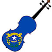 Nevada State Fiddle Art Print