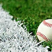 New Baseball Along Foul Line Art Print