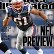 New England Patriots Jerod Mayo, 2011 Nfl Football Preview Sports Illustrated Cover Art Print